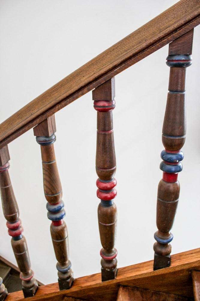 Treppenrenovierung München, Treppengeländer Detail