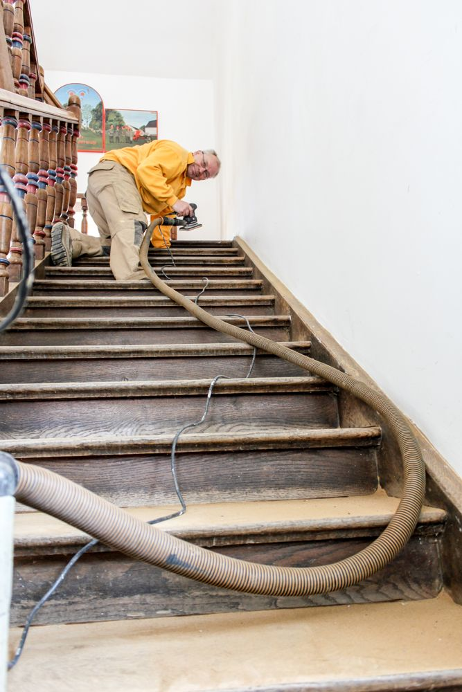 Treppenrenovierung München, Treppenstufen Schliff Feinschliff